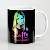 buffy Mugs featuring Buffy Multicoloured by Paul Elder