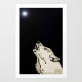 Howlin' For You Art Print