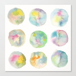 Imperfect Circles Canvas Print