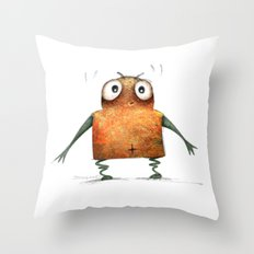 Undroid Robot Throw Pillow