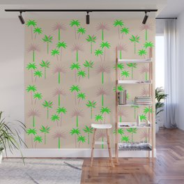 Palm Trees - Green & Neutral Wall Mural