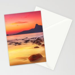 Sunrise over the Beach Stationery Cards