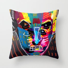 head 001 Throw Pillow