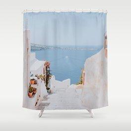 santorini ii / greece Shower Curtain