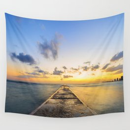 Golden Hour in Waikiki Wall Tapestry
