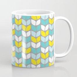 Tulip Knit (Aqua Gray Yellow) Coffee Mug