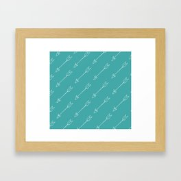 Blue Arrow Pattern Framed Art Print