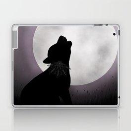 Howling at the moon Laptop & iPad Skin