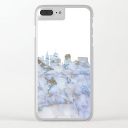 Memphis Skyline Tennessee Clear iPhone Case