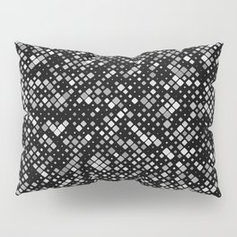 Grey Squares Pillow Sham