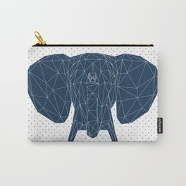 Faceted Elephant Carry-All Pouch