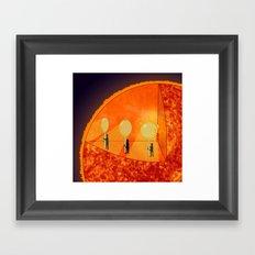 Inner Workings of the Sun Framed Art Print