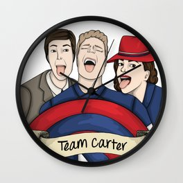Team Carter - With Banner Wall Clock