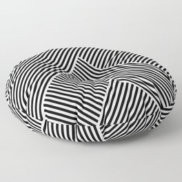 Black and White Abstract geometric pattern Floor Pillow