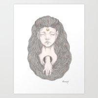 moon daughter Art Print