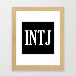 INTJ Framed Art Print