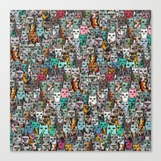 Gemstone Cats Canvas Print