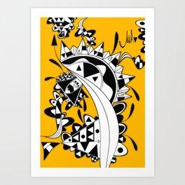 YELLOW TRIANGLE  Art Print