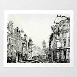 Standing in Trafalgar Square Art Print