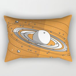Moons of Saturn Rectangular Pillow
