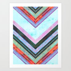 Adele Chevron {1B} Art Print