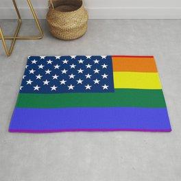 American Pride Flag Rug