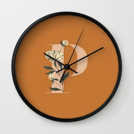 P for Peony Wall Clock