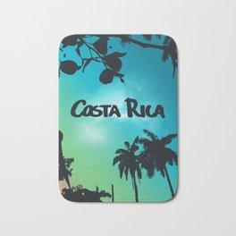 Costa Rica - Tropical Rainforest Poster Bath Mat