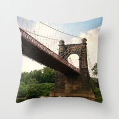 Wheeling Suspension Bridge  Throw Pillow