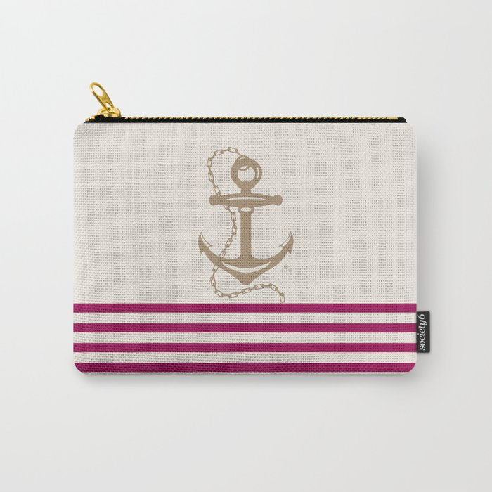 AFE Gold Nautical Anchor Carry-All Pouch
