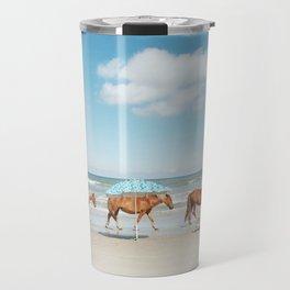 Summer Coast Horse Stride Travel Mug