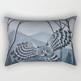 Grey Owl Rectangular Pillow