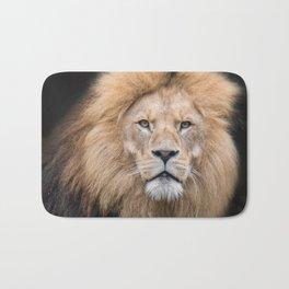 Closeup Portrait of a Male Lion Bath Mat