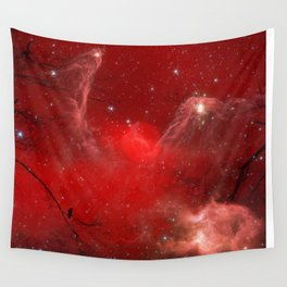Electric Red Wall Tapestry