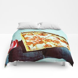 Pizza and a Coke Comforters