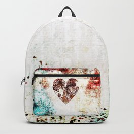 Vintage Heart Abstract Design Backpack