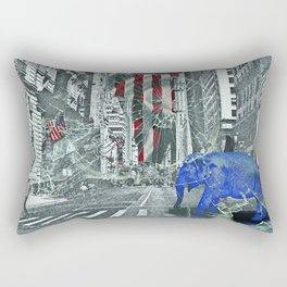 Elephant in New York Picture Rectangular Pillow