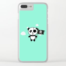 Panda Pirate with Flag T-Shirt for all Ages Da19o Clear iPhone Case
