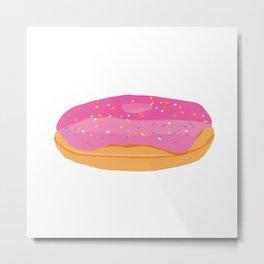 Strawberry Donuts Metal Print