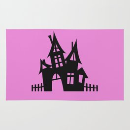 The Halloween House - Pink Palette Side Table Rug