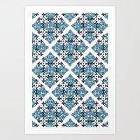 Tiles - cool Art Print