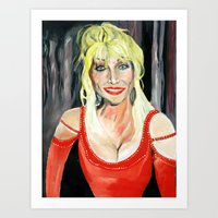 dolly parton Art Prints featuring Dolly Parton (serie) by MARTA BELTRAN