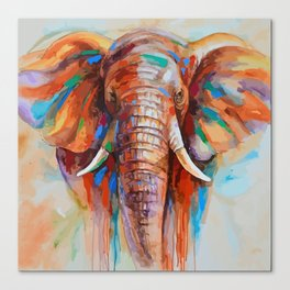 colorful elephant Canvas Print