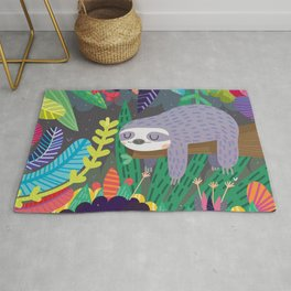 Sloth in nature Rug