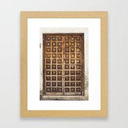 Puerta Malaga Wood Door España Framed Art Print