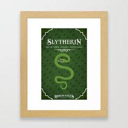 Slytherin House Poster Framed Art Print