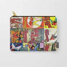 65 MCMLXV Super Hero Classic Comic Book Print Carry-All Pouch