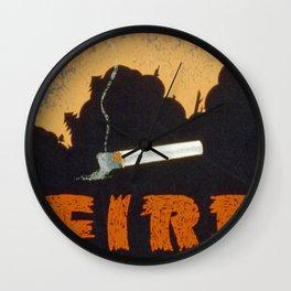 A Fire Wall Clock