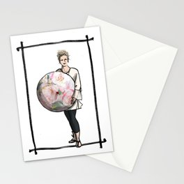 Lisa with Parasol  Stationery Cards