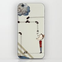 cycle iPhone & iPod Skins featuring cycle by bri musser